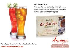 www.rooibosstore.co.za Fruit Juice, Iced Tea, Health And Beauty, Good Things, Health Benefits, Beauty Products, How To Make, Articles, Money