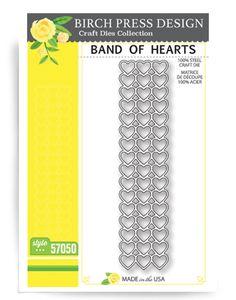 Birch Press Design BAND OF HEARTS Craft Die 57050 zoom image