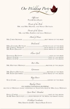 Wedding Program Templates Free   ... -African Program Samples ...