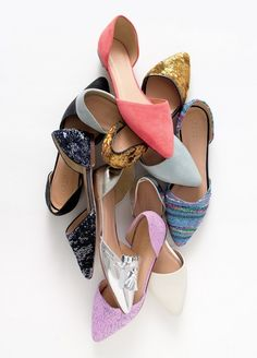 J Crew Summer 2015 flats: so colorful!