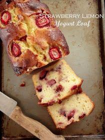 tast-e   baking and caking adventures: Strawberry Lemon Yogurt Loaf
