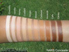 Nars Radiant Creamy Concealer cores - Custard ou Ginger