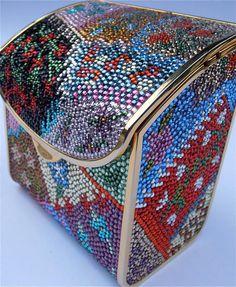 Vintage Judith Leiber Bag Formal Evening Bag Judith Leiber Clutch Purse Hard Sided Bag Minaudiere Color Crystal Handbag Swarovski Components