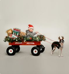 "Little Red Wagon Stories - ""Santa's Wagon"" Rowan's Radio Flyer story. #radioflyer"
