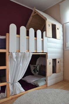Loft bed + playhouse = children's room dream - day-to-day enthusiasm
