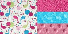 Baby Blanket Pink Dinosaurs with Your Choice of by BabyBedtime, $36.35