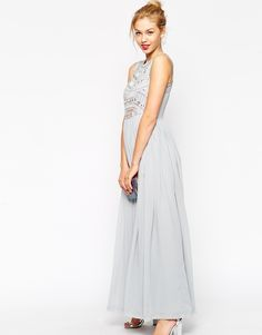 Image 4 of ASOS Embellished Armour Maxi Dress
