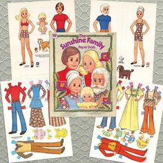 The sunshine family paper dolls....had these. Many hours of playing with these.