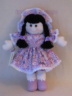 muñeca de trapo ternura, lila