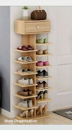 66 Ideas for shoe organization diy closet small spaces bedrooms Diy Garage Storage, Shoe Storage, Hidden Storage, Storage Shelves, Storage Ideas, Organization Ideas, Shoe Racks, Bedroom Organization, Kitchen Storage