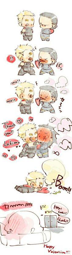 Happy Valentine!!!    Thorki    Cr: 篠森もきゅ