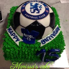 See 3 photos and 1 tip from 10 visitors to Marissa's Cake. Chelsea Football Cake, Chelsea Soccer, Chelsea Fc, Birthday Cakes For Men, 15th Birthday, Birthday Ideas, Soccer Cake, Celebration Cakes, Birthdays