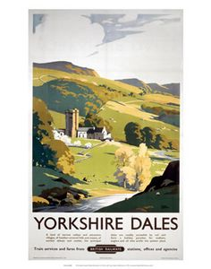 Yorkshire Dales British Railways Hillside painting