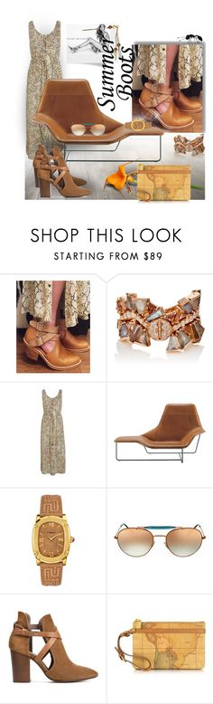 """Walk This Way: Summer Booties 3"" by silviaracchi ❤ liked on Polyvore featuring Nak Armstrong, Stuart Weitzman, Zanotta, Versace, Ray-Ban, H London, Alviero Martini 1° Classe and summerbooties"