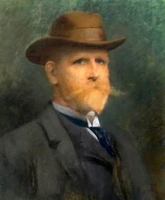 Self-Portrait In A Felt Hat by James Wells Champney (1843 – 1903)