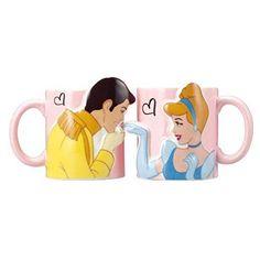Official-Disney-Cinderella-amp-Prince-Charming-Kiss-Pair-Mug-Cups-Set-Japan-new