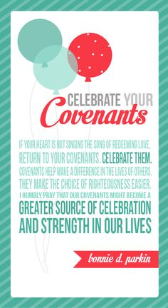 All Things Bright and Beautiful: Come Follow Me: Covenants
