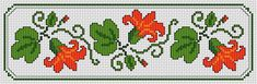 Beautiful bookmark composed of red flowers.Bright tangerine,orange and green colors. Cross Stitch Bookmarks, Cross Stitch Patterns, Menhdi Design, Floral Motif, Red Flowers, Cross Stitching, Hand Embroidery, Bane, Sewing