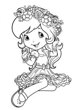 Disney Coloring Pages for Girls. 20 Disney Coloring Pages for Girls. Dn Strawberry Shortcake Coloring Page Cute Coloring Pages, Coloring Pages For Girls, Disney Coloring Pages, Free Printable Coloring Pages, Coloring For Kids, Free Coloring, Coloring Sheets, Coloring Books, Strawberry Shortcake Coloring Pages