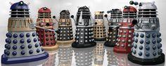 Daleks in Technicolour by Librarian-bot on DeviantArt