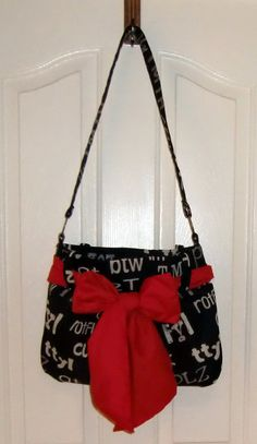 Black and white bag purse tote hobo designer fabric by jewellgem, $49.00