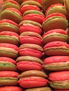 Red & Green Macarons with White-Chocolate Peppermint Ganache