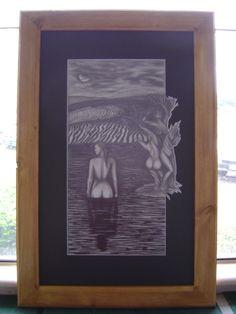 Surreal Nude - graphite pencil - Andrea Duregon