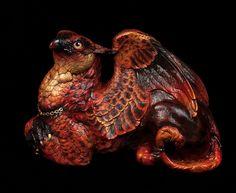 "Windstone ""Jaguar Flame 1"" Female Griffin Figurine Fantasy Griffon Statue | eBay"