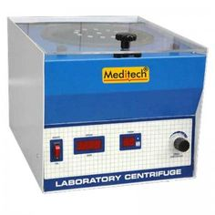 Meditech is the largest Lab Centrifuge manufacturer and exporter in India. Lab centrifuge are extensively used in used Laboratories, research centers and Blood Banks. Meditech lab centrifuge is fitted with digital speed controller and Timer. Speed can be adjusted and regulated with help of knob. Maximum speed obtainable is 5000 RPM.