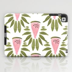 #Watermelon and Leaves #iPad Case by Bouffants and Broken Hearts - $60.00 #pattern