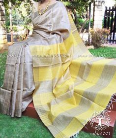 tussar silk sarees, kurti design, indian wedding sarees @ http://ladyindia.com