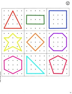 Geoboard Shapes Template Disabilities More Pins Like This At – Ideas For Kindergarten Montessori Activities, Kindergarten Math, Toddler Activities, Learning Activities, Preschool Activities, Kids Learning, Geo Board, Shape Templates, Templates Free