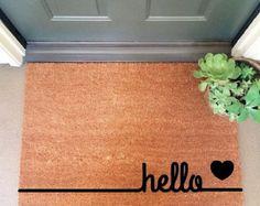Hello Coir Doormat Coir Funny Doormat / By InspireLifeToday | HOME |  Pinterest | Funny Doormats, Coir And Doormat