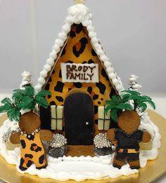 Custom animal print Gingerbread House from The Solvang Bakery.