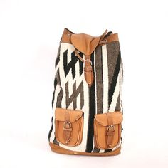 c62d01124c Vintage wool and leather backpack