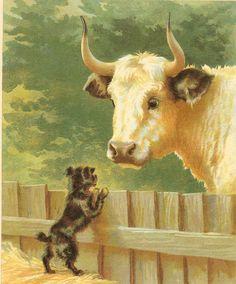 Edwardian 1900s Ernest Nister Antique Animal by printsandpastimes