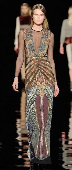 Gorgeous dress. Etro?
