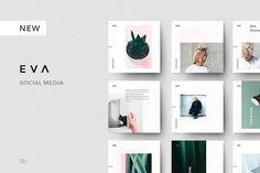 EVA Social Media + FREE Bonus by Dima Isakov on @creativemarket