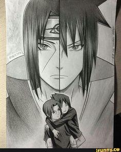 Itachi and Sasuke Drawing