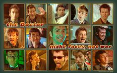 The Doctor makes faces, not war
