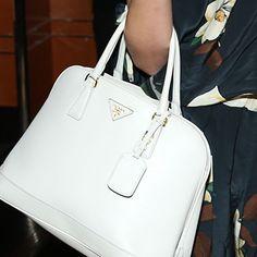 small white prada purse