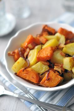 Sweet Potato, Bacon, Pork, Food And Drink, Potatoes, Meat, Vegetables, Ethnic Recipes, Main Courses