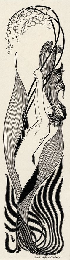 STRONG Graphic-SINUOUS Lines, POWERFUL- Feminine/Masculine- Jugendstil (German Art Nouveau 1897