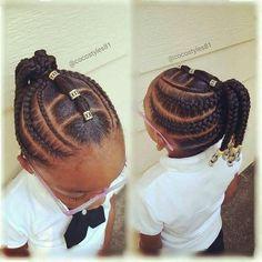 Black kids hairstyles Simple Braid Styles, Braid Styles For Kids, Little Girl Braid . Lil Girl Hairstyles, Black Kids Hairstyles, Natural Hairstyles For Kids, Kids Braided Hairstyles, African Hairstyles, Girl Haircuts, Short Hairstyles, Short Haircuts, Teenage Hairstyles