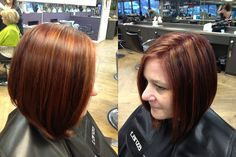 copper/plum highlight and lowlight by Kate Bargy
