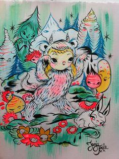 My portrait in Max costume NZ artist Tanja Jade (the creator of the Misery world).