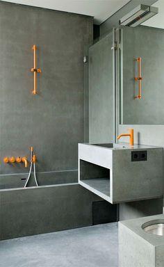 Toques naranjas #baños #bathroom