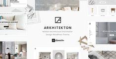 Arkhitekton - Modern Architecture and Interior Design WordPress Theme Template Wordpress, Tema Wordpress, Premium Wordpress Themes, Slider, Themes Free, Shop Layout, Inside Design, Creating A Business, Interior Design