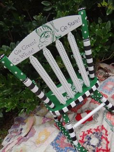 Michigan State Spartans Rocker for Kids by elliesshop on Etsy, $250.00
