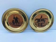 Excited to share this item from my #etsy shop: Vintage, Equestrian, Brass, Wall Pocket, Wall Hanging Plates #bronze #beige #entryway #vintagewallplates #wallpocketplates #equestrianplates #huntingplates #rarewallpockets #brasswallpockets Hanging Plates, Wall Pockets, Chip And Dip Bowl, Dog Bowls, Vintage Planters, Equestrian, Foyer, Entryway, Vintage Colors